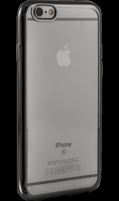 где купить Gresso Чехол-крышка Gresso для Apple iPhone 6/6S, силикон, серый (с рамкой) по лучшей цене