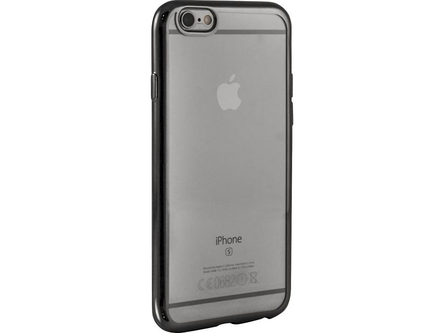 Чехол-крышка Gresso для iPhone 6/6S, силикон, серый (с рамкой)