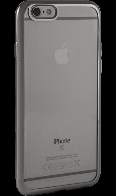 где купить Gresso Чехол-крышка Gresso для Apple iPhone 6/6S, силикон, серебристый (с рамкой) по лучшей цене