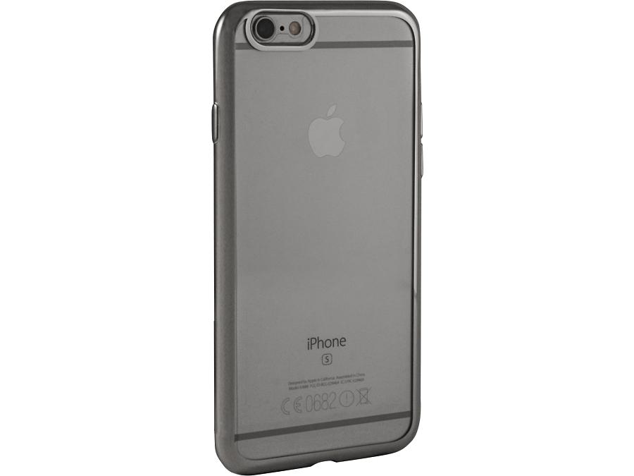 Чехол-крышка Gresso для iPhone 6/6S, силикон, серебристый (с рамкой)