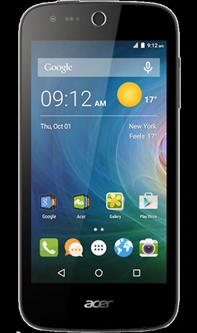 Acer Liquid Z330Смартфоны<br>2G, 3G, 4G, Wi-Fi; ОС Android; Дисплей сенсорный 16,7 млн цв. 4.5; Камера 5 Mpix, AF; Разъем для карт памяти; MP3, FM,  GPS / ГЛОНАСС; Время работы 430 ч. / 11.0 ч.; Вес 124 г.<br><br>Colour: Черный