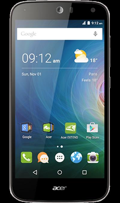 Acer Liquid Z630Смартфоны<br>2G, 3G, 4G, Wi-Fi; ОС Android; Дисплей сенсорный 16,7 млн цв. 5.5; Камера 8 Mpix, AF; Разъем для карт памяти; MP3, FM,  GPS / ГЛОНАСС; Вес 167 г.<br><br>Colour: Черный