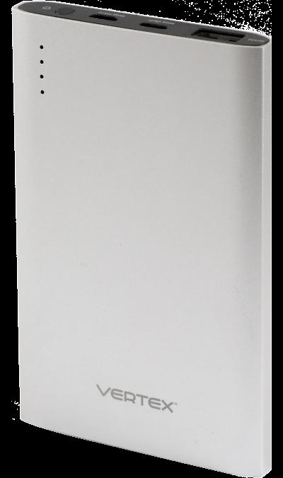 Аккумулятор Vertex MFIPB5000SL, Li-Pol, 5000 мАч, серебристый (портативный)Аккумуляторы внешние<br>Предназначен для заряда аккумулятора техники Apple: iPhone 6Splus/6S/6Plus/6/5S/5, а также более ранние модели при наличии соответсвующего кабеля, iPod, iPad.<br> <br>Подходит также для заряда мобильных устройств: мобильных телефонов, смартфонов, планшетных компьютеров, MP3 плееров и любых других устройств, имеющих функцию заряда через порт USB и при наличии соответствующего кабеля.<br> <br>Разъем кабеля:  s8pin. <br>Время подзарядки: 5-6 часов.<br><br>Colour: Серебристый