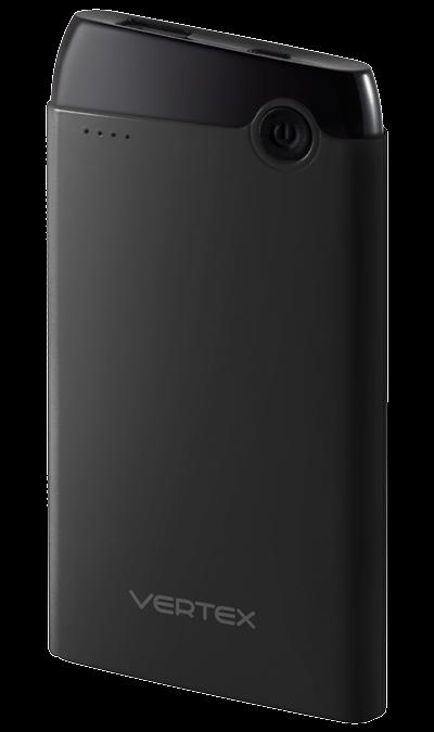 Аккумулятор Vertex, Li-Pol, 5000 мАч, черный (портативный)Аккумуляторы внешние<br>Предназначен для заряда аккумулятора мобильных устройств: мобильных телефонов, смартфонов, планшетных компьютеров, MP3 плееров и любых других устройств, имеющих функцию заряда через порт USB. Совместим с iPhone (при наличии подходящего кабеля).<br><br>Colour: Черный