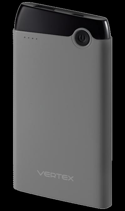 Аккумулятор Vertex, Li-Pol, 5000 мАч, серый (портативный)Аккумуляторы внешние<br>Предназначен для заряда аккумулятора мобильных устройств: мобильных телефонов, смартфонов, планшетных компьютеров, MP3 плееров и любых других устройств, имеющих функцию заряда через порт USB. Совместим с iPhone (при наличии подходящего кабеля).<br><br>Colour: Серый