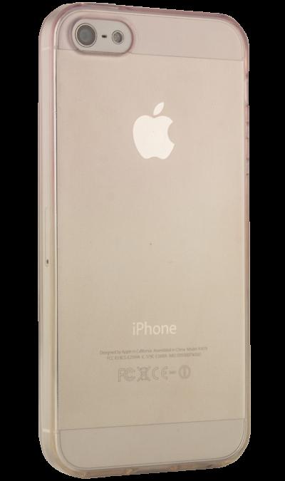Liberty Project Чехол-крышка Liberty Project для Apple iPhone 5S жёлто-розовый, силикон, прозрачный чехлы для телефонов liberty project чехол для fly iq455 ego art2 lp раскладной кожа черный