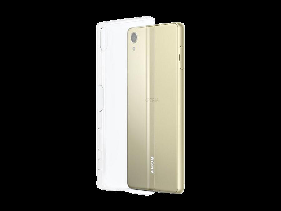 Чехол-крышка Sony для Sony Xperia X, силикон, прозрачный (оригинальный)