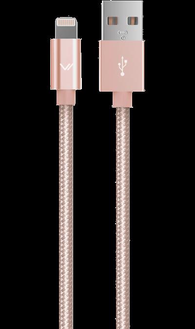 Кабель Vertex Lightning  (розовое золото)Кабели и адаптеры<br>Кабель зарядки и передачи данных для мобильных устройств.<br><br>Colour: Розовый