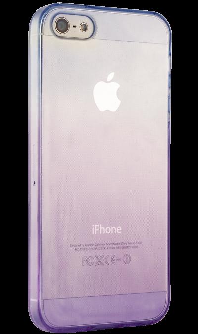 Liberty Project Чехол-крышка   для Apple iPhone 5S фиолетово-голубой, силикон, прозрачный