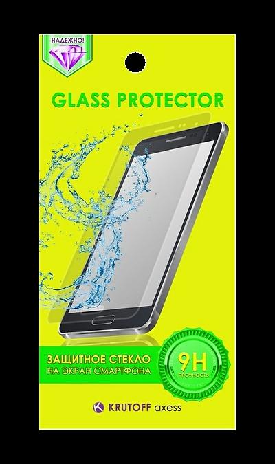 Защитное стекло Krutoff axess для iPhone 4/4SЗащитные стекла и пленки<br>Качественное защитное стекло прекрасно защищает дисплей от царапин и других следов механического воздействия. Оно не содержит клеевого слоя и крепится на дисплей благодаря эффекту электростатического притяжения.<br>