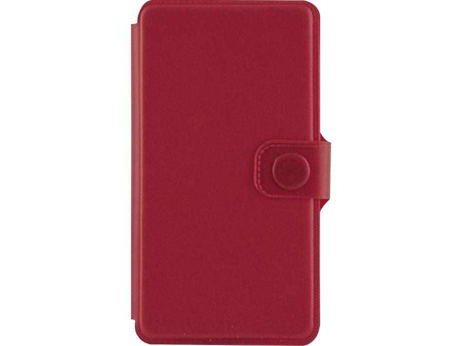 Чехол-книжка FashionTouch для Micromax D303, пластик, красный