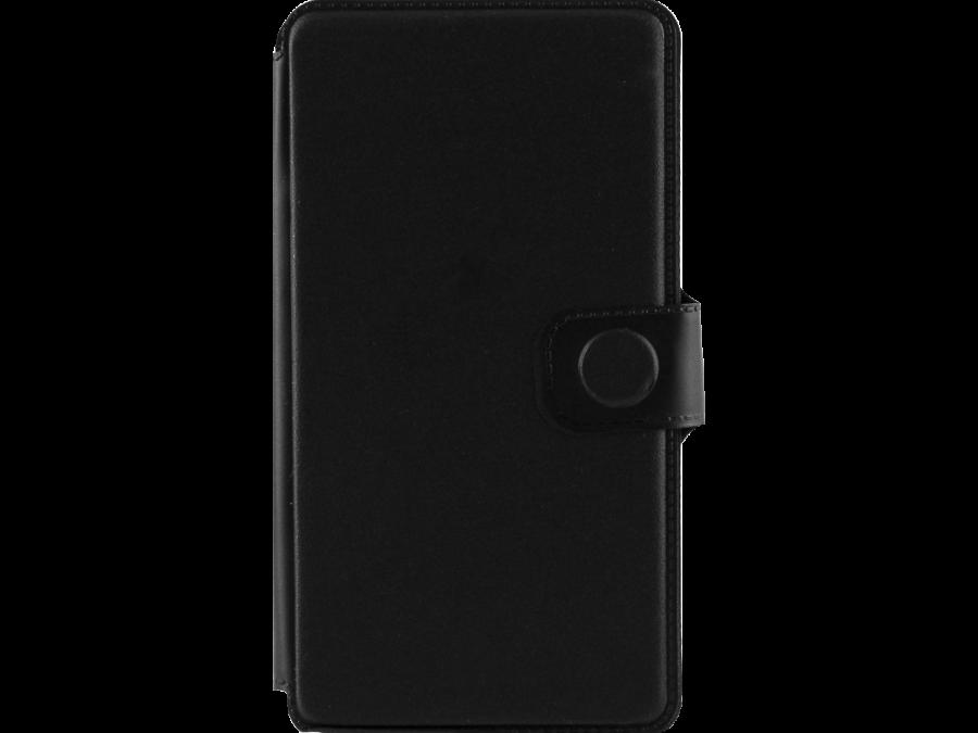 Чехол-книжка FashionTouch для Micromax D303, пластик, черный