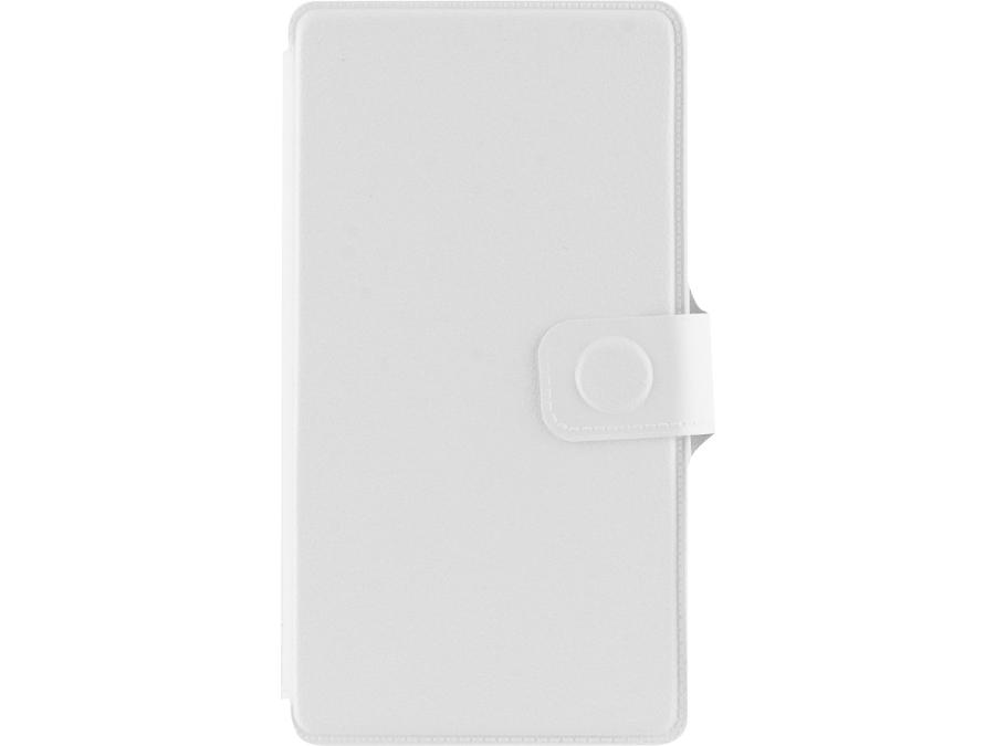 Чехол-книжка FashionTouch для Micromax Canvas Pace Q415, пластик, белый