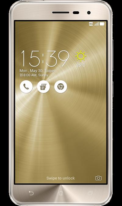 ASUS ZenFone 3 ZE520KL 32GbСмартфоны<br>2G, 3G, 4G, Wi-Fi; ОС Android; Дисплей сенсорный 16,7 млн цв. 5.2; Камера 16 Mpix, AF; Разъем для карт памяти; FM,  BEIDOU / GPS / ГЛОНАСС; Вес 144 г.<br><br>Colour: Золотистый