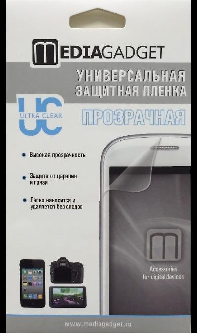 Защитная пленка Media Gadget универсальная 7 (прозрачная)Защитные стекла и пленки<br>Универсальная защитная пленка предохранит дисплей цифровой техники от пыли, царапин, потертостей и сколов. Пленка обладает повышенной стойкостью к механическим воздействиям, оставаясь, при этом, полностью прозрачной. В комплекте поставки присутствует одна универсальная пленка, которую можно наклеить на любой дисплей размером до 7, и безворсовая тряпочка. Для удобства вырезки пленки под конкретные размеры дисплея, на пластиковую основу пленки нанесена линейная разметка.<br>