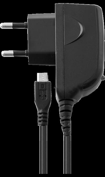 Зарядное устройство сетевое  WTCU2 0,5-1A (microUSB)Зарядные устройства<br>Сетевое зарядное устройство можно использовать для зарядки аккумуляторов аппаратов с разъемом microUSB.<br><br>Colour: Черный