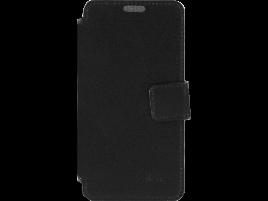 Чехол-книжка ZAKKA для Micromax Q415, кожзам, черный