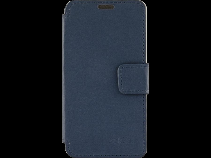 Чехол-книжка ZAKKA для Micromax Q415, кожзам, синий