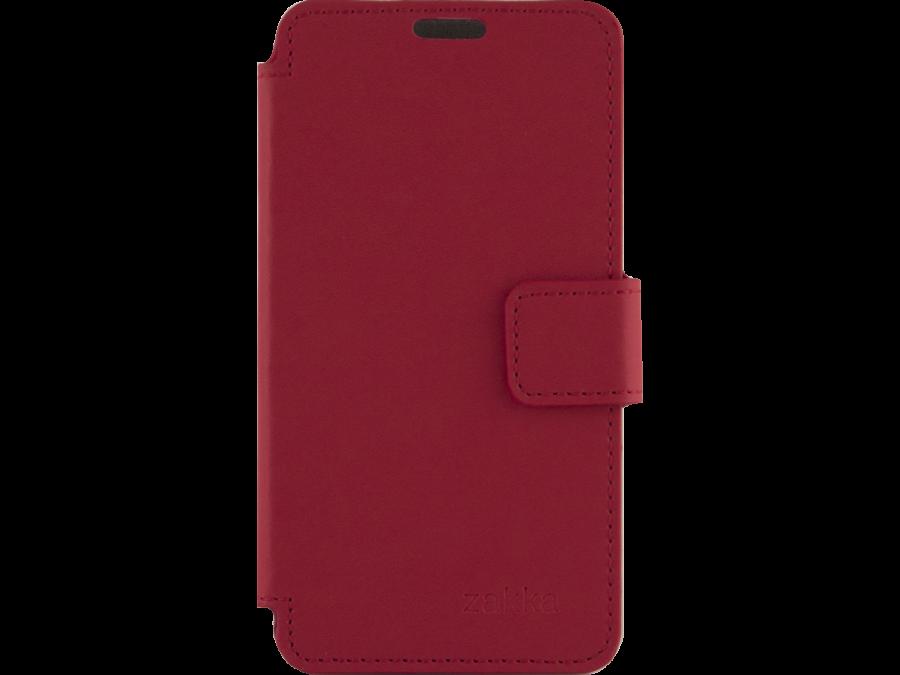 Чехол-книжка ZAKKA для Micromax Q415, кожзам, красный