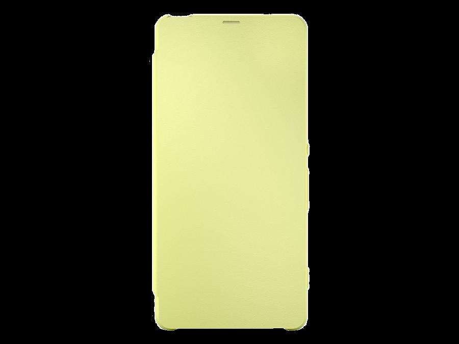 Sony Чехол-книжка Sony для Xperia XA, кожзам / пластик, желтый (оригинальный)