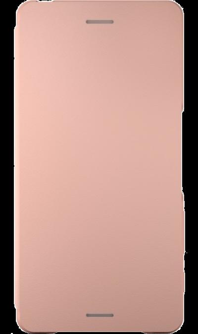 Sony Чехол-книжка Sony для Xperia X, кожзам / пластик, розовый (оригинальный) чехол вертикальный откидной для sony xperia t3 синий armorjacket