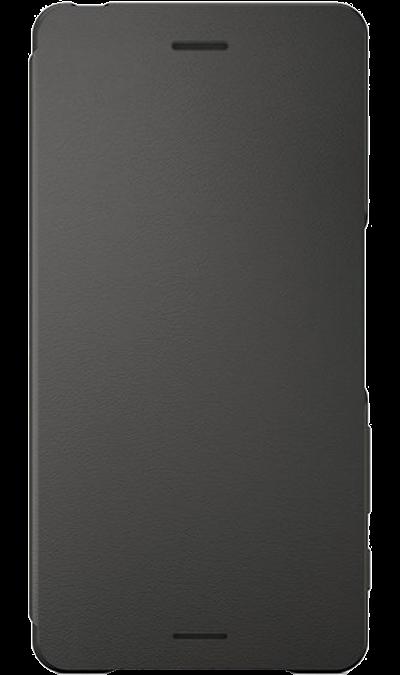 Sony Чехол-книжка Sony для Xperia X, кожзам / пластик, черный (оригинальный) чехол книжка вертикальный для sony xperia e2 черный aksberry