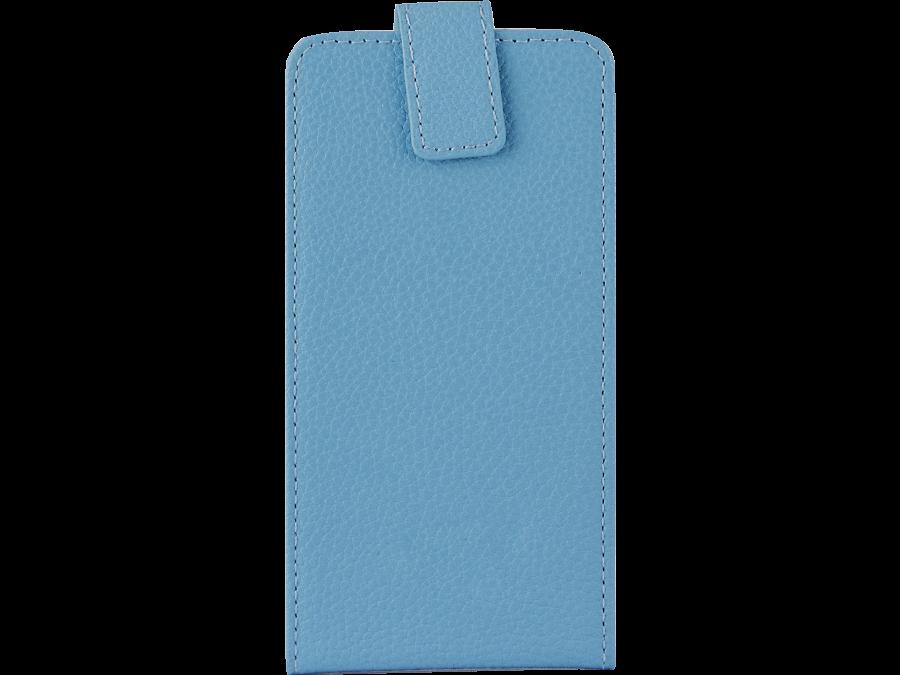 Чехол-книжка Lemon Tree универсальный 4.5-5.2'', кожзам, голубой