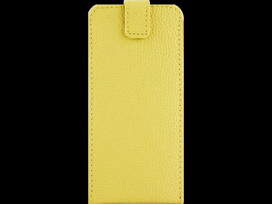 Чехол-книжка Lemon Tree универсальный 4.5-5.2'', кожзам, желтый