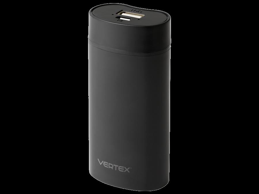 Аккумулятор Vertex Slim line, Li-Ion, 5000 мАч, черный (портативный)