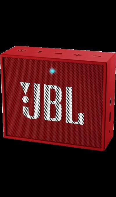 JBL GOПортативная акустика<br>Компактный размер. Мощное звучание.<br>JBL GO - везде должен быть только качественный звук! Этот динамик является удобным решением всё-в-одном. Он поддерживает Bluetooth, что позволяет подключать его к любым современным гаджетам, а встроенный аккумулятор подарит вам 5 часов музыки без перерыва. JBL GO также оснащен встроенным микрофоном с технологией шумоподавления, что позволяет вам общаться по телефону по громкой связи.<br><br>Доступный в 8 ярких расцветках, в прорезиненном корпусе и ...<br><br>Colour: Красный