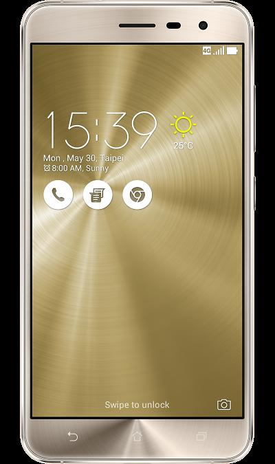 ASUS Zenfone 3 ZE552KL 64GbСмартфоны<br>2G, 3G, 4G, Wi-Fi; ОС Android; Дисплей сенсорный 16,7 млн цв. 5.5; Камера 16 Mpix, AF; Разъем для карт памяти; FM,  BEIDOU / GPS / ГЛОНАСС; Вес 155 г.<br><br>Colour: Золотистый