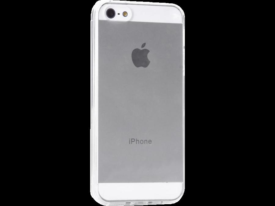 Чехол-крышка Krutoff для Apple iPhone 5/5S, силикон, прозрачный