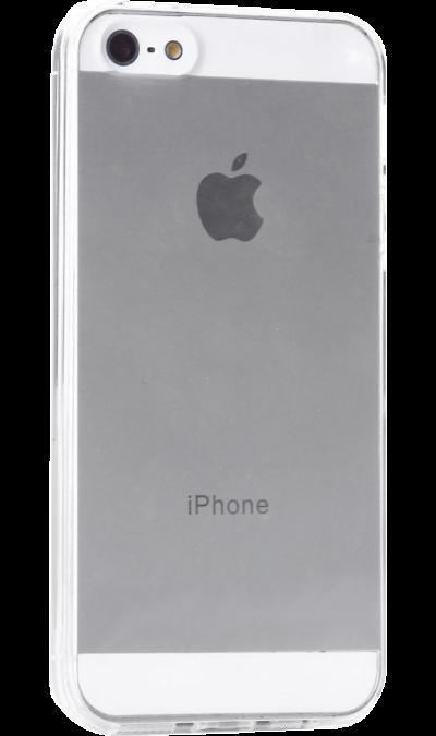 Krutoff Чехол-крышка Krutoff для Apple iPhone 5/5S, силикон, прозрачный аксессуар чехол накладка krutoff для apple iphone 5 5s se transparent black 10672