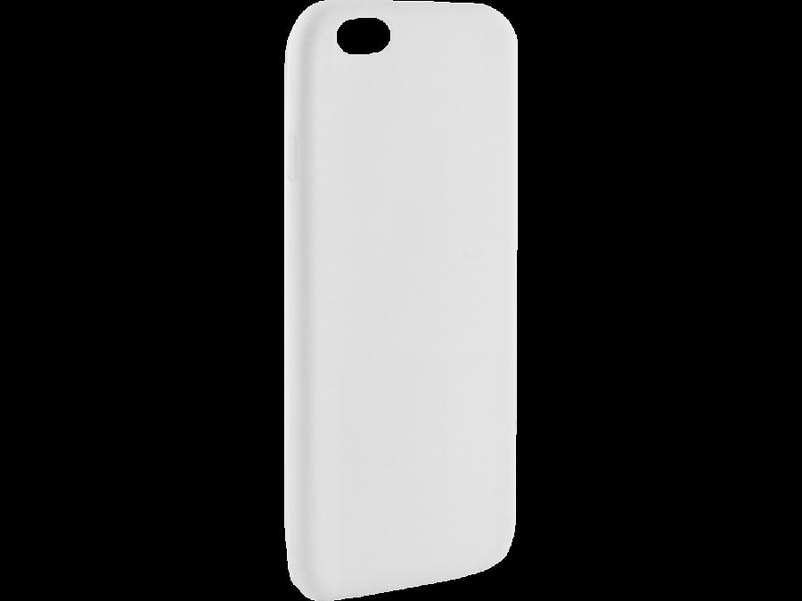 Krutoff Чехол-крышка Krutoff для Apple iPhone 6/6S, силикон, белый аксессуар чехол аккумулятор krutoff x4 3800 mah для iphone 6 black 48186