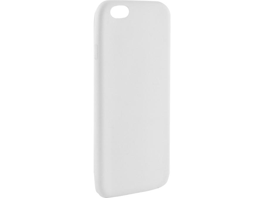 Чехол-крышка Krutoff для iPhone 6/6S, силикон, золотистый (прозрачный)