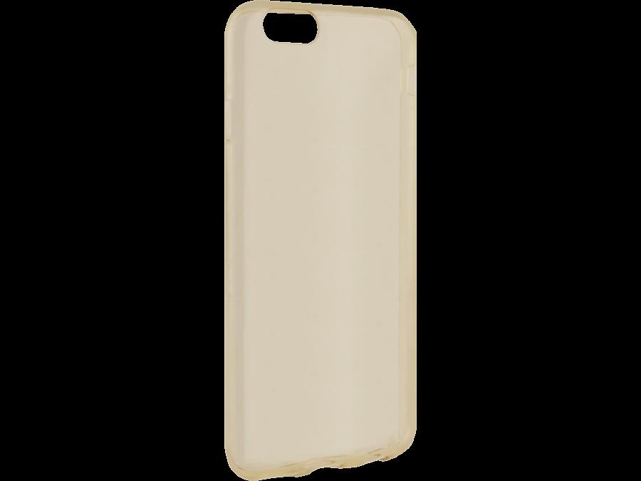Чехол-крышка Krutoff для Apple iPhone 6/6S, силикон, золотистый (прозрачный)