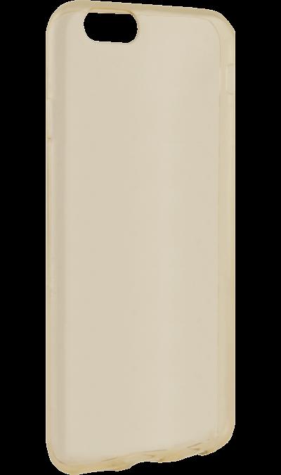 Чехол-крышка Krutoff для Apple iPhone 6/6S, силикон, золотистый (прозрачный)Чехлы и сумочки<br>Чехол поможет не только защитить ваш iPhone 6/6S от повреждений, но и сделает обращение с ним более удобным, а сам аппарат будет выглядеть еще более оригинальным.<br><br>Colour: Золотистый