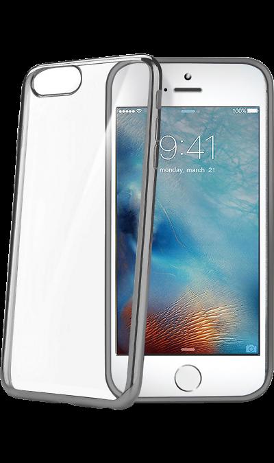 CELLY Чехол-крышка CELLY для Apple iPhone 7/8, силикон, серебро (с окантовкой) аксессуар чехол celly air pelle для apple iphone 7 black airpelle800bk