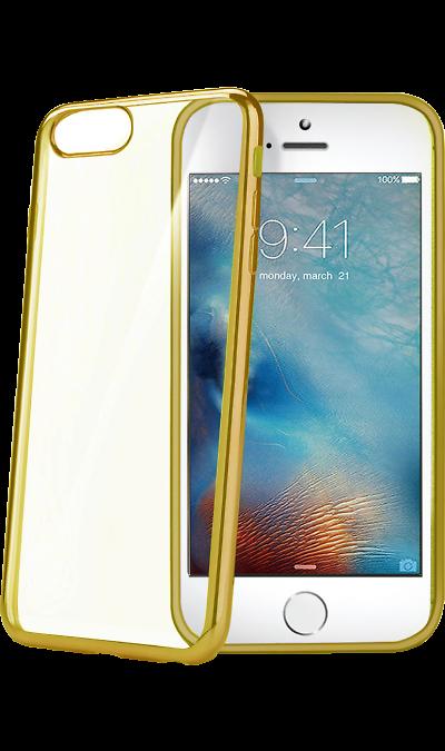CELLY Чехол-крышка CELLY для Apple iPhone 7/8, силикон, золото (с окантовкой) аксессуар чехол celly air pelle для apple iphone 7 black airpelle800bk
