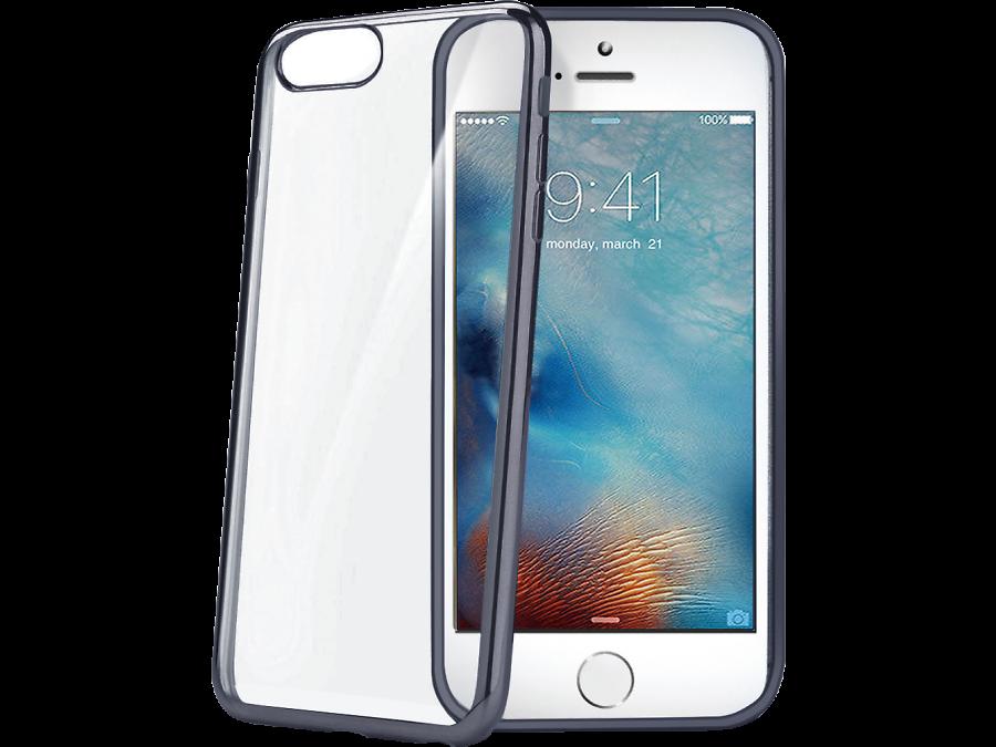 Чехол-крышка CELLY для Apple iPhone 7, силикон, серый (с окантовкой)