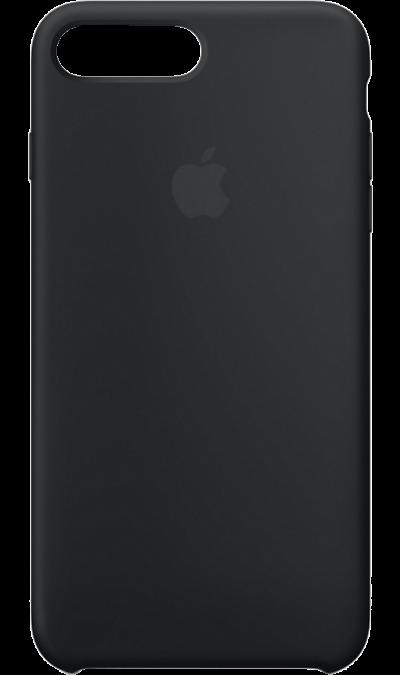 Чехол-крышка Apple для Apple iPhone 7 Plus/8 Plus, силикон, черныйЧехлы и сумочки<br>Силиконовый чехол iPhone 7 Plus плотно прилегает к кнопкам громкости и режима сна, точно повторяет контуры телефона, но при этом не делает его громоздким. Мягкая подкладка из микроволокна защищает корпус вашего iPhone. А его внешняя силиконовая поверхность очень приятна на ощупь.<br><br>Colour: Черный