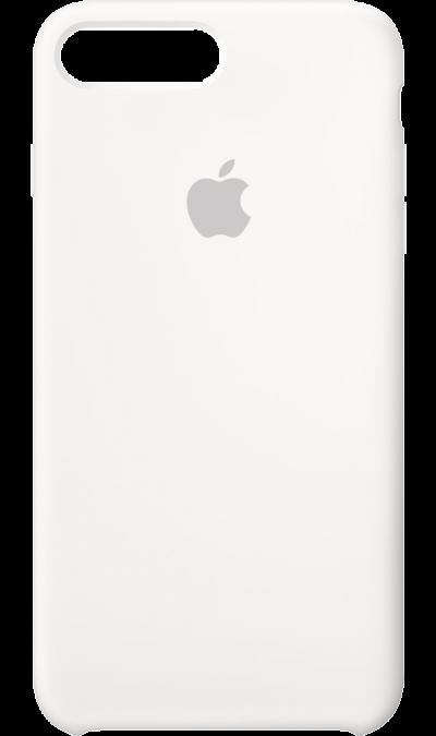 Чехол-крышка Apple для Apple iPhone 7 Plus/8 Plus, силикон, белыйЧехлы и сумочки<br>Силиконовый чехол iPhone 7 Plus плотно прилегает к кнопкам громкости и режима сна, точно повторяет контуры телефона, но при этом не делает его громоздким. Мягкая подкладка из микроволокна защищает корпус вашего iPhone. А его внешняя силиконовая поверхность очень приятна на ощупь.<br><br>Colour: Белый