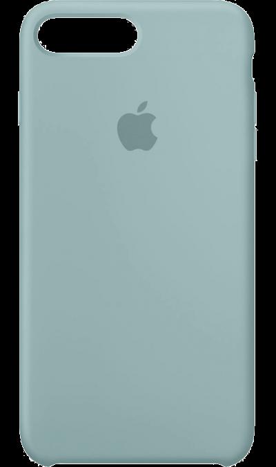 Чехол-крышка Apple для Apple iPhone 7 Plus/8 Plus, силикон, голубойЧехлы и сумочки<br>Силиконовый чехол iPhone 7 Plus плотно прилегает к кнопкам громкости и режима сна, точно повторяет контуры телефона, но при этом не делает его громоздким. Мягкая подкладка из микроволокна защищает корпус вашего iPhone. А его внешняя силиконовая поверхность очень приятна на ощупь.<br><br>Colour: Голубой