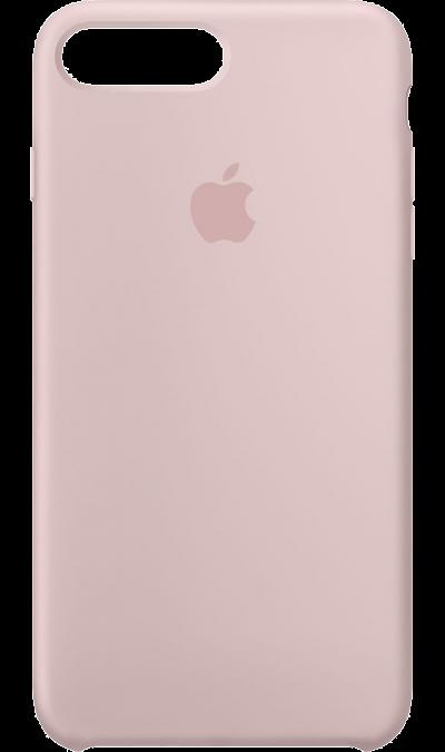 Чехол-крышка Apple для Apple iPhone 7 Plus/8 Plus, силикон, розовыйЧехлы и сумочки<br>Силиконовый чехол iPhone 7 Plus плотно прилегает к кнопкам громкости и режима сна, точно повторяет контуры телефона, но при этом не делает его громоздким. Мягкая подкладка из микроволокна защищает корпус вашего iPhone. А его внешняя силиконовая поверхность очень приятна на ощупь.<br><br>Colour: Розовый