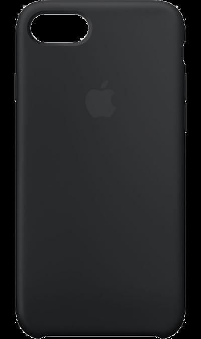 Чехол-крышка Apple для Apple iPhone 7/8, силикон, черныйЧехлы и сумочки<br>Силиконовый чехол iPhone 7 плотно прилегает к кнопкам громкости и режима сна, точно повторяет контуры телефона, но при этом не делает его громоздким. Мягкая подкладка из микроволокна защищает корпус iPhone. А его внешняя силиконовая поверхность очень приятна на ощупь.<br><br>Colour: Черный
