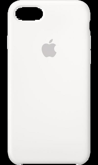 Чехол-крышка Apple для Apple iPhone 7/8, силикон, белыйЧехлы и сумочки<br>Силиконовый чехол iPhone 7 плотно прилегает к кнопкам громкости и режима сна, точно повторяет контуры телефона, но при этом не делает его громоздким. Мягкая подкладка из микроволокна защищает корпус iPhone. А его внешняя силиконовая поверхность очень приятна на ощупь.<br><br>Colour: Белый