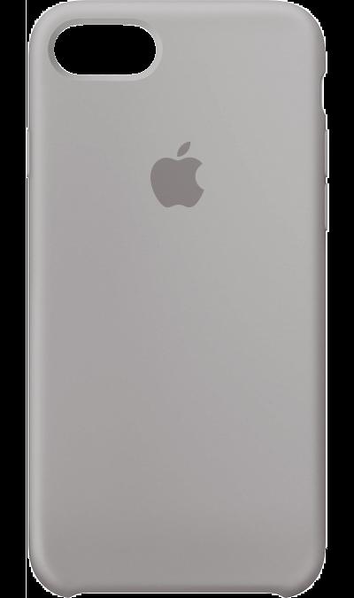 Чехол-крышка Apple для Apple iPhone 7, силикон, бежевыйЧехлы и сумочки<br>Силиконовый чехол iPhone 7 плотно прилегает к кнопкам громкости и режима сна, точно повторяет контуры телефона, но при этом не делает его громоздким. Мягкая подкладка из микроволокна защищает корпус iPhone. А его внешняя силиконовая поверхность очень приятна на ощупь.<br><br>Colour: Бежевый