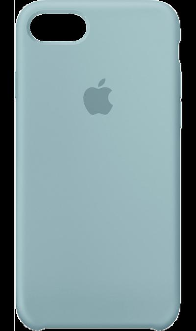 Чехол-крышка Apple для Apple iPhone 7/8, силикон, голубойЧехлы и сумочки<br>Силиконовый чехол iPhone 7 плотно прилегает к кнопкам громкости и режима сна, точно повторяет контуры телефона, но при этом не делает его громоздким. Мягкая подкладка из микроволокна защищает корпус iPhone. А его внешняя силиконовая поверхность очень приятна на ощупь.<br><br>Colour: Голубой