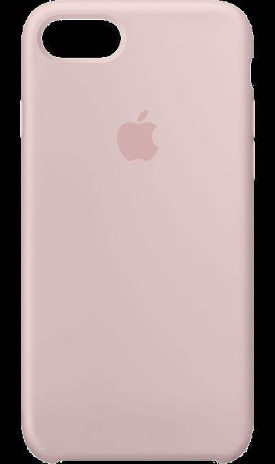Чехол-крышка Apple для Apple iPhone 7, силикон, розовыйЧехлы и сумочки<br>Силиконовый чехол iPhone 7 плотно прилегает к кнопкам громкости и режима сна, точно повторяет контуры телефона, но при этом не делает его громоздким. Мягкая подкладка из микроволокна защищает корпус iPhone. А его внешняя силиконовая поверхность очень приятна на ощупь.<br><br>Colour: Розовый