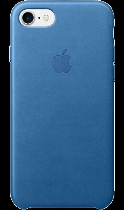 Apple Чехол-крышка Apple для Apple iPhone 7/8, кожа, голубой apple чехол крышка apple mqha2zm для apple iphone 7 8 кожа красный